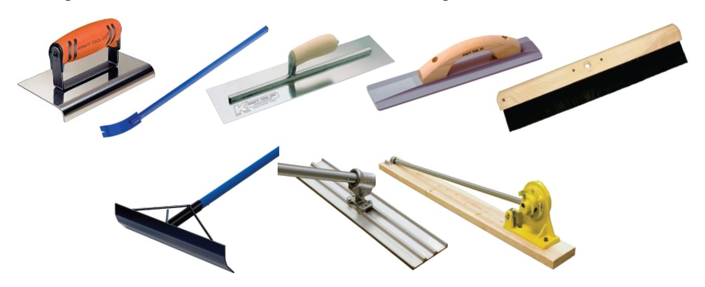 Image of Concrete Tools